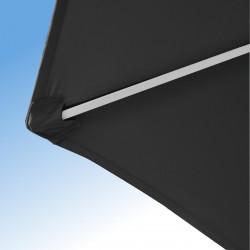 Parasol Arcachon Gris Anthracite 300 cm Alu : détail de la toile et de la qualité des coutures
