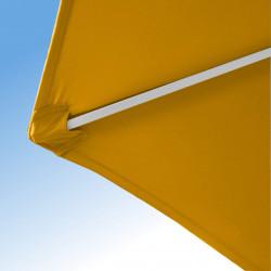 Parasol Arcachon Jaune d'Or 300 cm Alu : détail de la toile et de la qualité des coutures