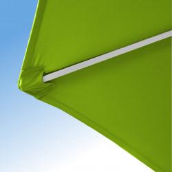 Parasol Arcachon Vert Limone 250 cm : détail de la toile et de la qualité des coutures