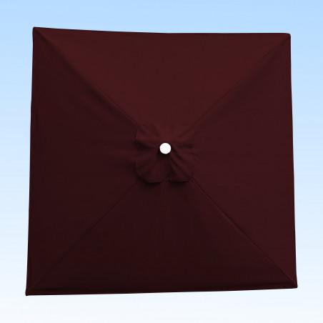 Toile acrylique Sunbrella ® Aubergine pour parasol carré 2x2