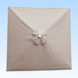 Toile acrylique Sunbrella ® Antique Beige pour parasol carré 2x2