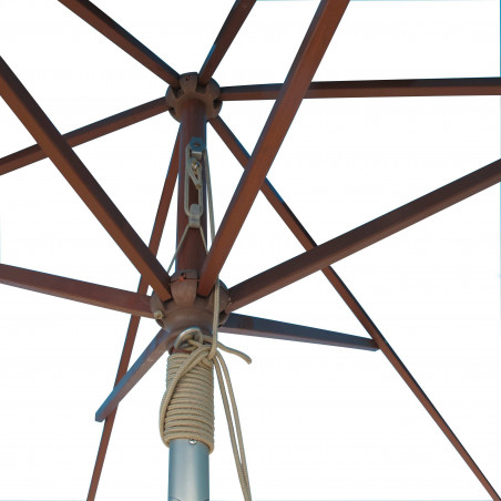 Armature Parasol Lacanau 2x3 Bois : détail vu de dessous