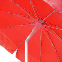 Parasol Royan Rouge diamètre 150 cm : détail de l'inclinaison