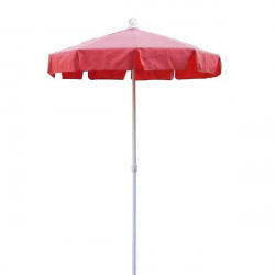 Parasol Royan Rouge diamètre 150 cm