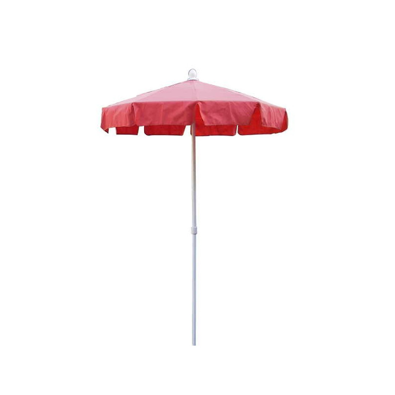Parasol Royan Rouge diamètre 150 cm : vu de face