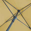 Parasol Lacanau Sable Grège 200 x 200 cm Alu : détail du systeme d'ouverture