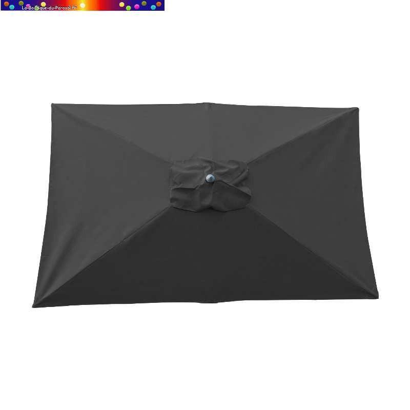 Parasol Lacanau Gris Souris 200 x 300 cm Alu vu de dessus