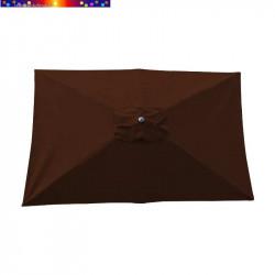 Parasol Lacanau Chocolat 200 x 300 cm Alu vu de dessus