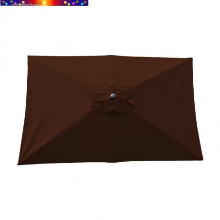 Parasol Lacanau Chocolat 200 x 300 cm Alu