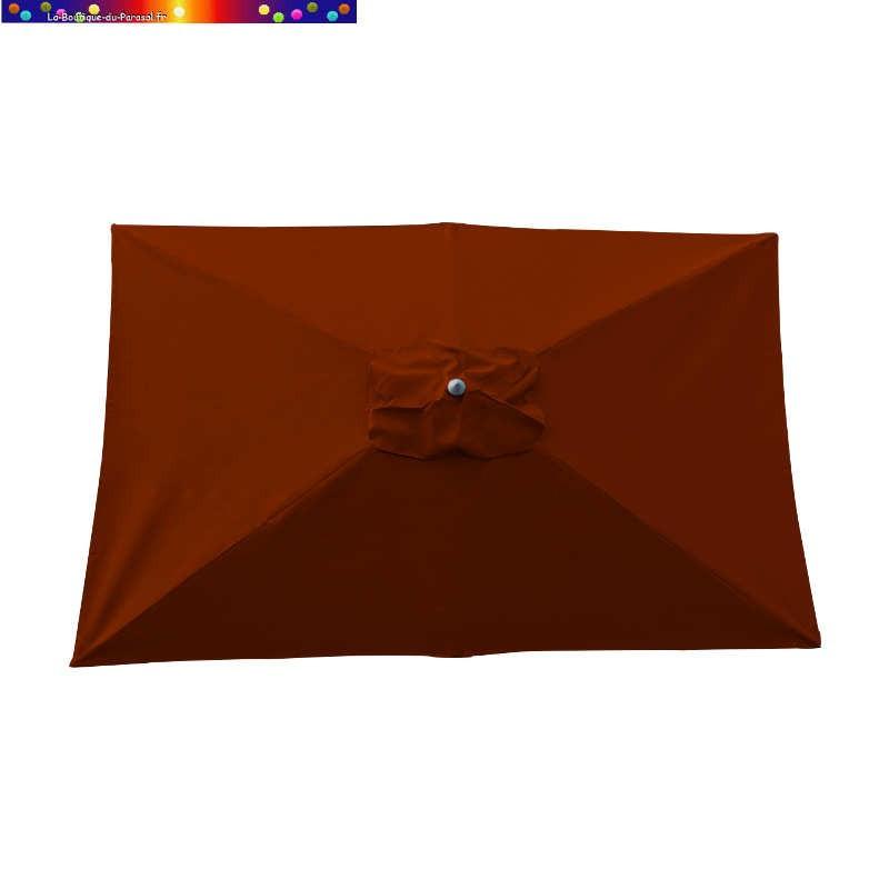 Parasol Lacanau Terracotta 200 x 300 cm Alu vu de dessus