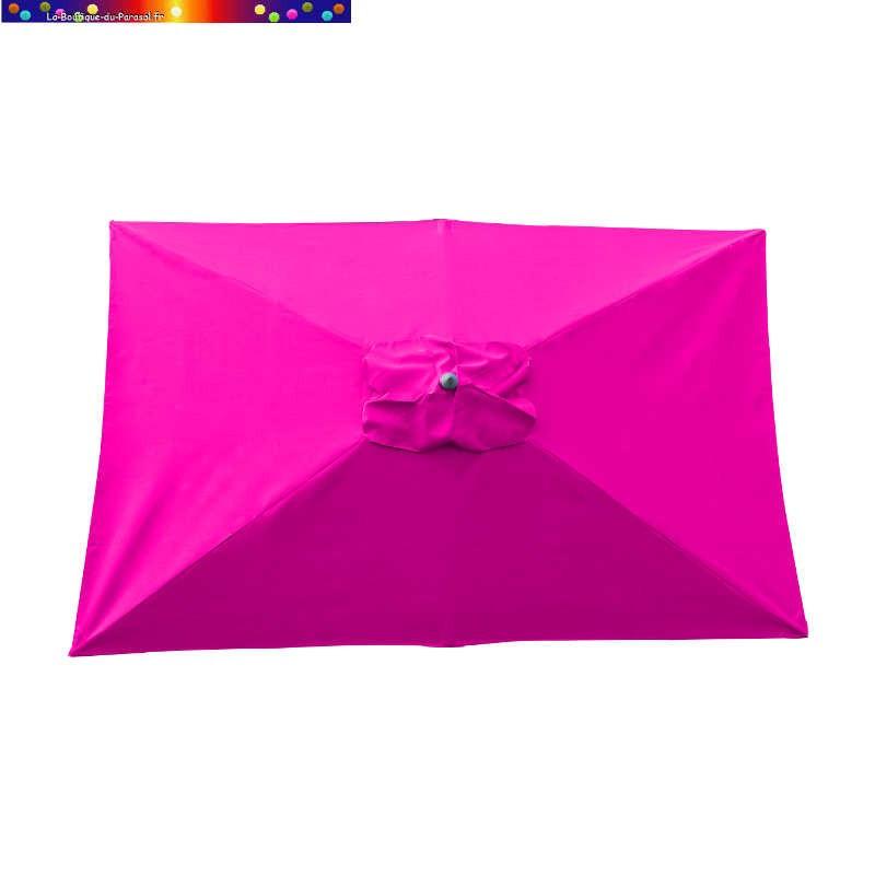 Parasol Lacanau Rose Fushia 200 x 300 cm Alu vu de dessus