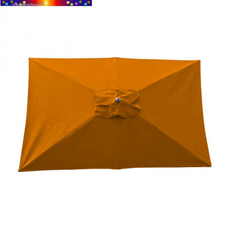 Parasol Lacanau Orange 200 x 300 cm Alu vu de dessus