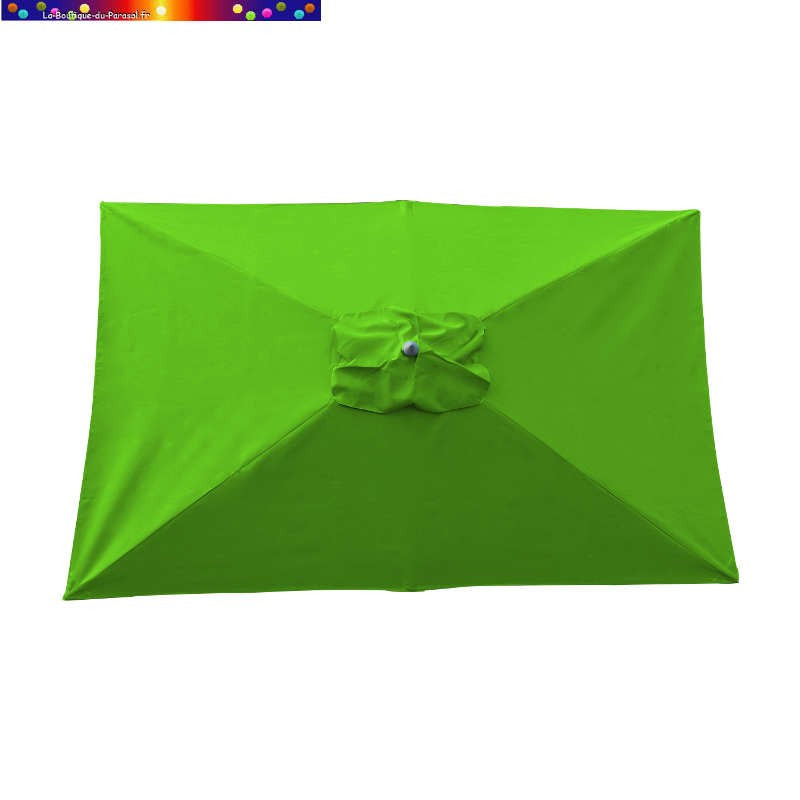 Parasol Lacanau Vert Lime 200 x 300 cm Alu vu de dessus