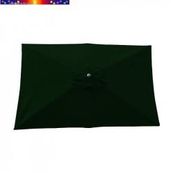 Parasol Lacanau Vert Pinède 200 x 300 cm Alu vu de dessus