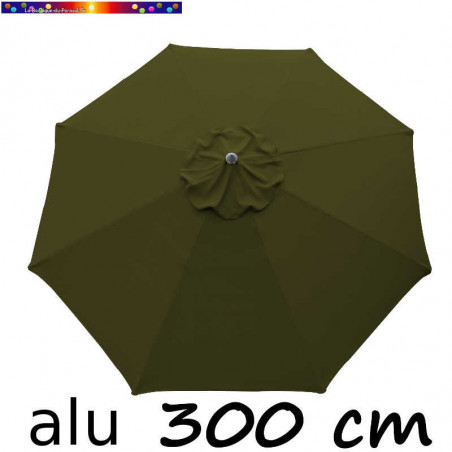 Parasol Lacanau Vert Olive 300 cm Alu