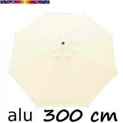 Parasol Lacanau rond (octogonal) Diamètre 300 cm en Aluminium avec toile couleur Ecru : détail de la toile vue de dessus