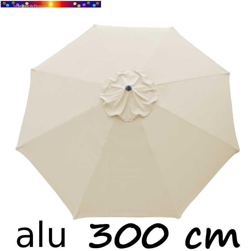 Parasol Lacanau rond (octogonal) Diamètre 300 cm en Aluminium avec toile couleur Sable Greige : détail de la toile vue de dessus