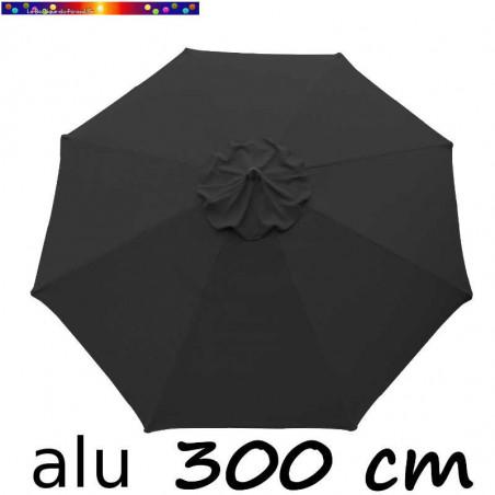 Parasol Lacanau Gris Souris 300 cm Alu