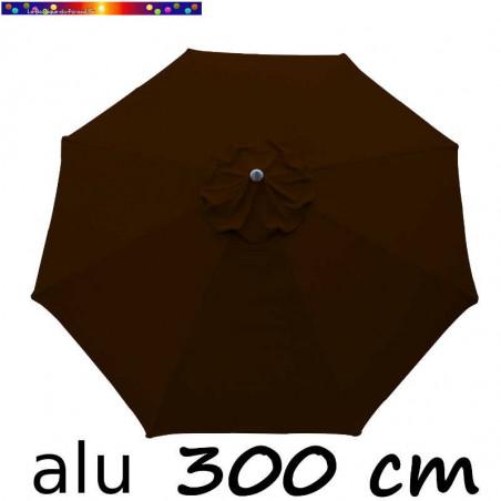 Parasol Lacanau Chocolat 300 cm Alu