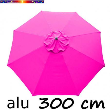 Parasol Lacanau Rose Fushia 300 cm Alu