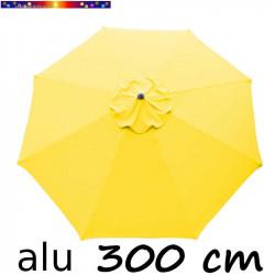 Parasol Lacanau rond (octogonal) Diamètre 300 cm en Aluminium avec toile couleur Jaune d'Or: détail de la toile vue de dessus