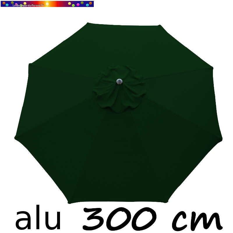 Parasol Lacanau rond (octogonal) Diamètre 300 cm en Aluminium avec toile couleur Vert Forêt : détail de la toile vue de dessus