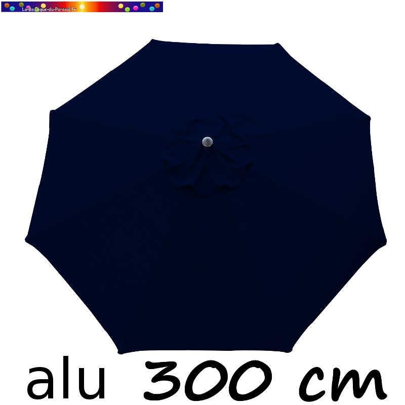 Parasol Lacanau rond (octogonal) Diamètre 300 cm en Aluminium avec toile couleur Bleu Marine : détail de la toile vue de dessus