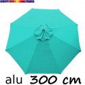 Parasol Lacanau rond (octogonal) Diamètre 300 cm en Aluminium avec Toile couleur Bleu Turquoise : toile vue de dessus