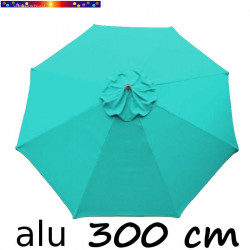 Parasol Lacanau Bleu Turquoise 300 cm Alu