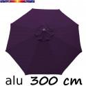 Parasol Lacanau rond (octogonal) Diamètre 300 cm en Aluminium toile couleur Lilas Violette : détail de la toile vue de dessus