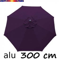 Parasol Lacanau Lilas Violette 300 cm Alu