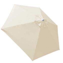 Parasol Biarritz diamètre 300 cm Blanc Ecru Nature : toile vue dessus