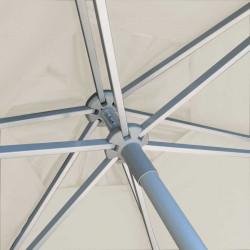 Parasol Biarritz diamètre 300 cm Blanc Ecru Nature : détail du système d'ouverture du parasol