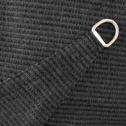 Voile d'Ombrage Triangle 360 cm Anthracite : détail de la toile et de l'anneau d'accrochage