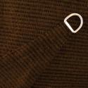 Voile d'Ombrage Triangle 360 cm Marron Havane : détail de la toile et de l'anneau d'accrochage