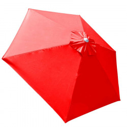 Parasol Biarritz diamètre 300 cm Rouge Coquelicot : toile vue de dessus