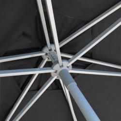 Parasol Biarritz diamètre 300 cm Gris Anthracite : détail du système d'ouverture du parasol