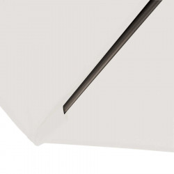 Parasol Biarritz diamètre 300 cm Blanc Ecru Nature : détail du fourreau de fixation de la toile