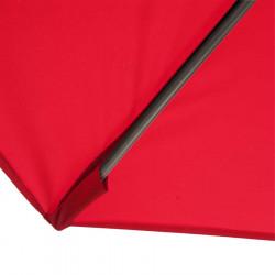 Parasol Biarritz diamètre 300 cm Rouge Coquelicot : détail du fourreau de fixation de la toile