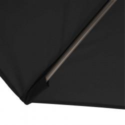 Parasol Biarritz diamètre 300 cm Gris Anthracite : détail du fourreau de fixation de la toile