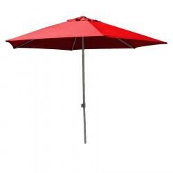 Parasol Biarritz diamètre 300 cm Rouge Coquelicot : vu de face