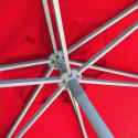 Parasol Biarritz diamètre 300 cm Rouge Coquelicot : détail du système d'ouverture du parasol