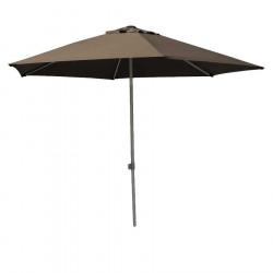 Parasol Biarritz diamètre 300 cm Gris Taupe : vu de face
