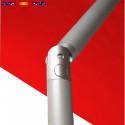 Parasol Biarritz 2x2 Rouge Coquelicot : détail de l'inclination du mât