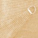 Voile d'Ombrage Triangle 500 cm Sable : détail des anneaux d'accrochage de la toile