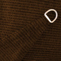 Voile d'Ombrage Triangle 500 cm Marron Havane : détail de la toile