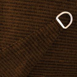 Voile d'Ombrage Triangle 500 cm Marron Chataigne : détail de la toile