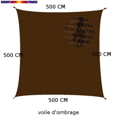Voile Carrée 500 cm Chataigne