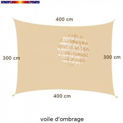 Voile d'Ombrage Rectangle 300 x 400 cm Nuage d'été