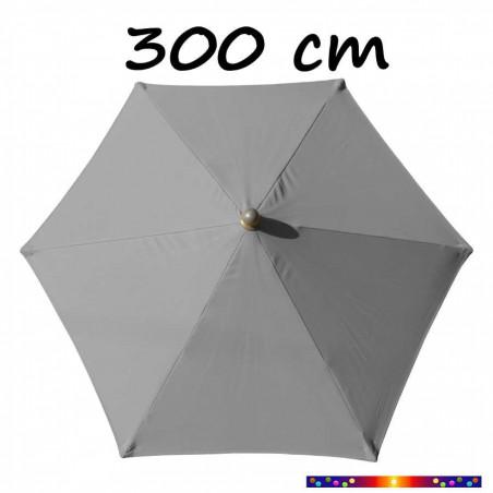 Parasol Arcachon Gris Perle 300 cm Alu